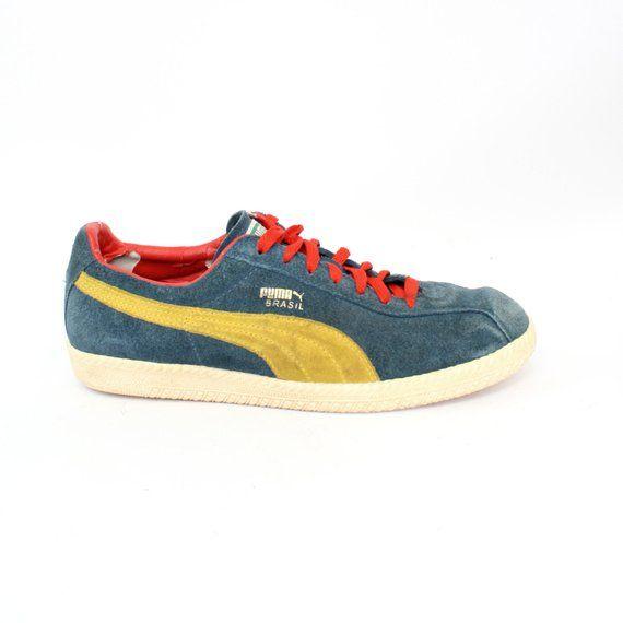 EU 41 blue Vintage Puma Brasil sneakers size UK 7.5 US
