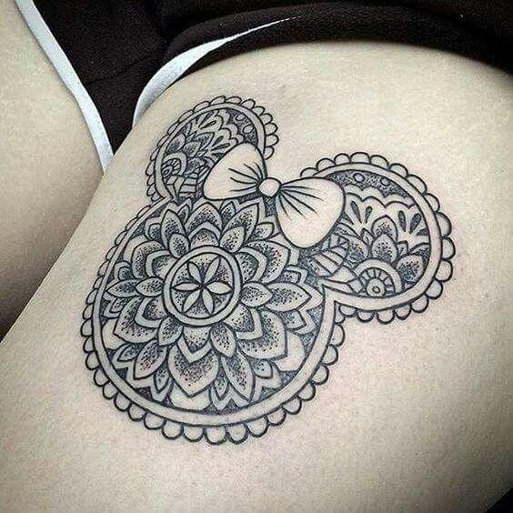 Disney, mandala tattoo