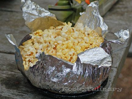 Stovetop popcorn (like Jiffy Pop) can be made over a campfire.