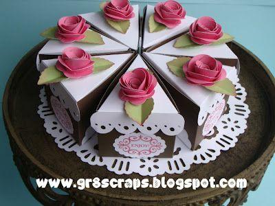 gr8scraps: Cake Slice Box