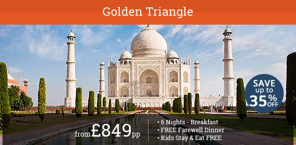 Explore iconic attractions in Delhi, Agra, and Jaipur. Save up to 35% on this exclusive 6 Night Golden Triangle Tour. Kids stay and eat free