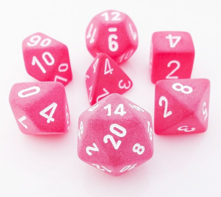 Frosted Dice (Red) RPG Role Playing Game Dice Set