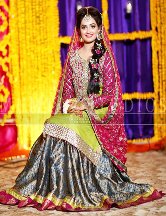 Mehndi Dress Designs 2016 New Style : Latest bridal mehndi dresses collection