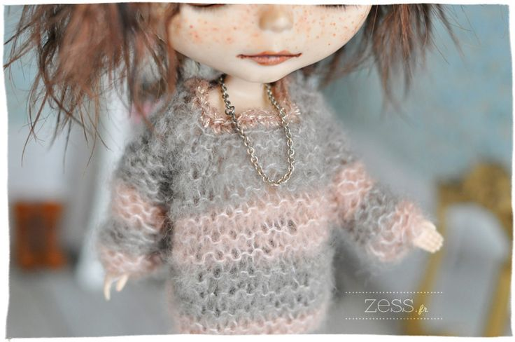 DIY : Tuto pull / gilet pour blythe / pullip (tricot)