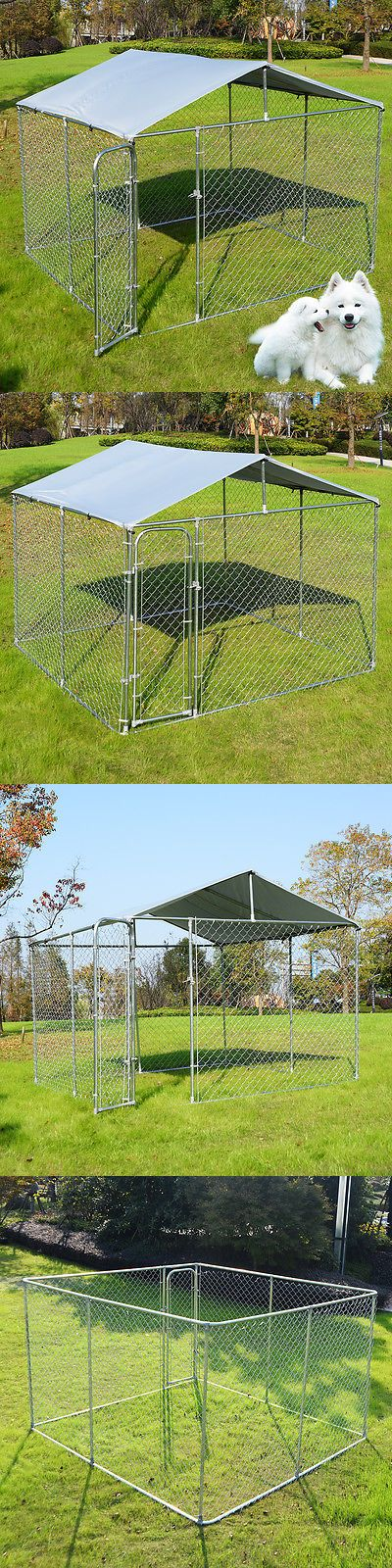 Fences and Exercise Pens 20748: Large Pet Dog Run House Kennel Shade Cage 10' X 10' Roof Cover Backyard Playpen BUY IT NOW ONLY: $295.99