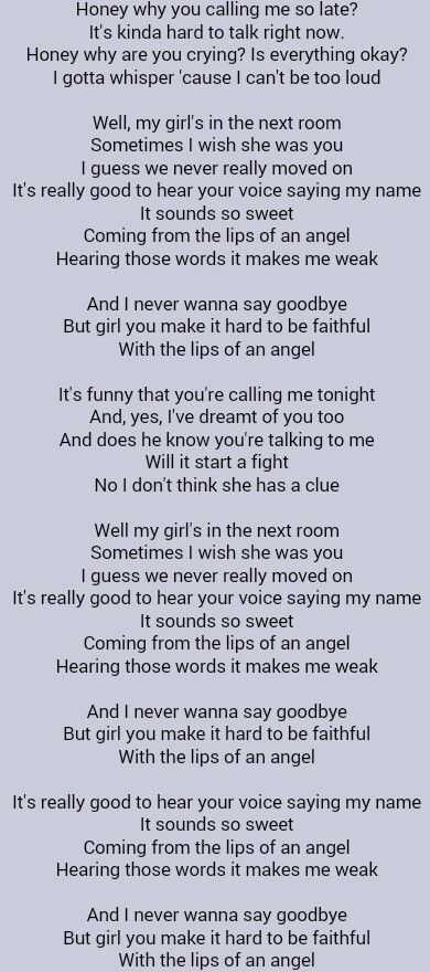 Hinder . Lips Of An Angel ....... 10 5 2014 ... 1212am ..... crazy the time.