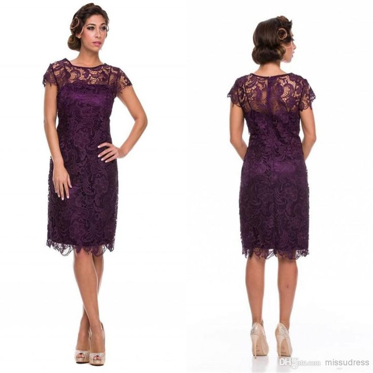Best Selling Crew Lace Knee Length Mother Of The Bride