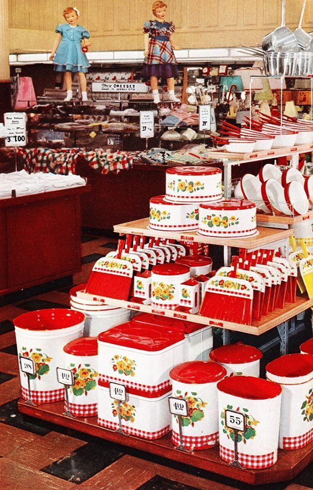 Woolworth 1951. Look at all the enamel. I want one of each