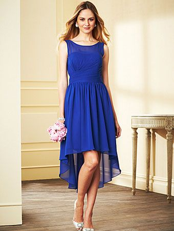 Alfred Angelo Bridesmaid Style 7298S in Mediterranean Blue