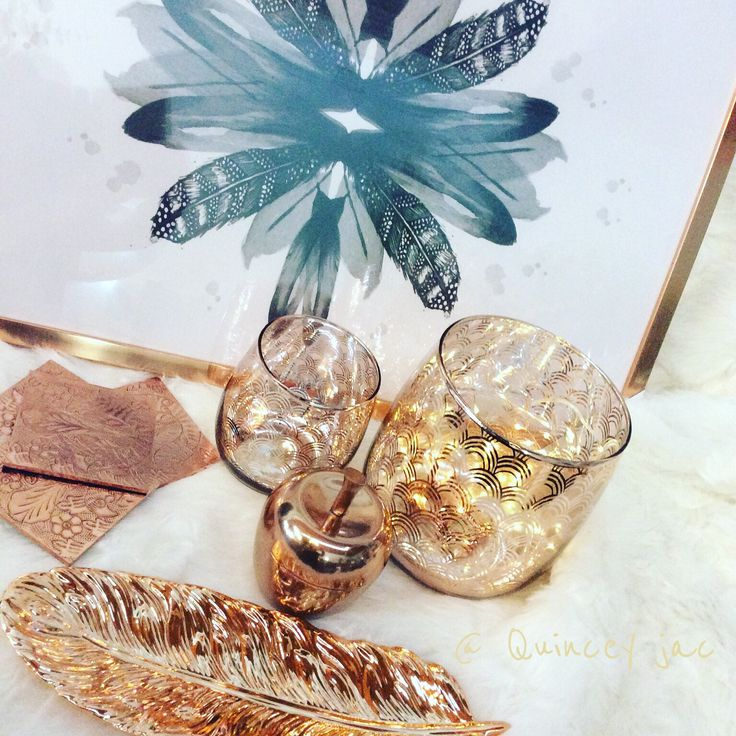 #copper #feathers #prints #lux #homedecor #gifts #quinceyjac