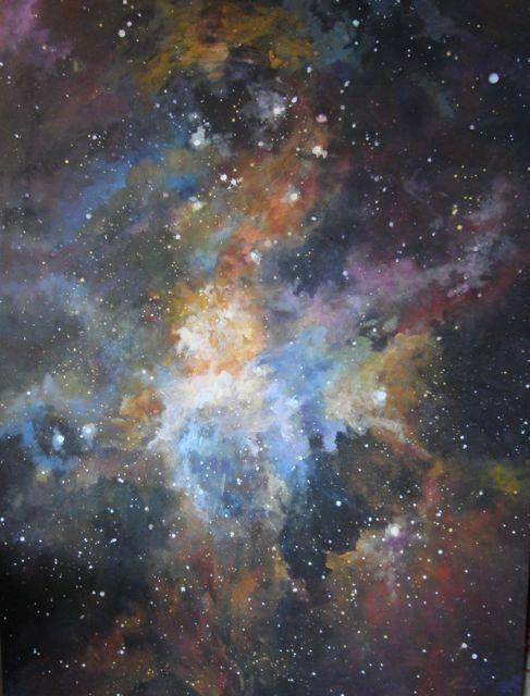 """""""Orion Nebula"""" original oil painting by artist Vanessa Penman - www.penman.co.nz"""