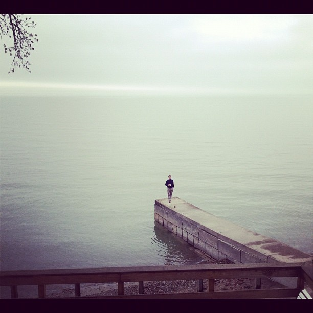 """We asked readers to send in photos from their phones about how they start their morning routines. Here is one from Instagram user @hersch004. The caption: """"#morningwsh start with a coffee and walk on Lake Erie."""": Fascinators Photo, Cameras Phon Photo"""