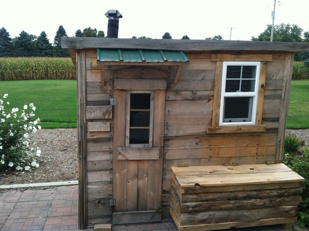 Picture of fall 2013 update new house ideas pinterest for Build a wood burning sauna
