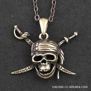 Rainy Jewel : Brass jewelry Pirates of the Caribbean Delicateecklace Pendants Gothic Pure copper pir @ niftywarehouse.com #NiftyWarehouse #PiratesOfTheCarribbean #Pirates #Movies #Pirate