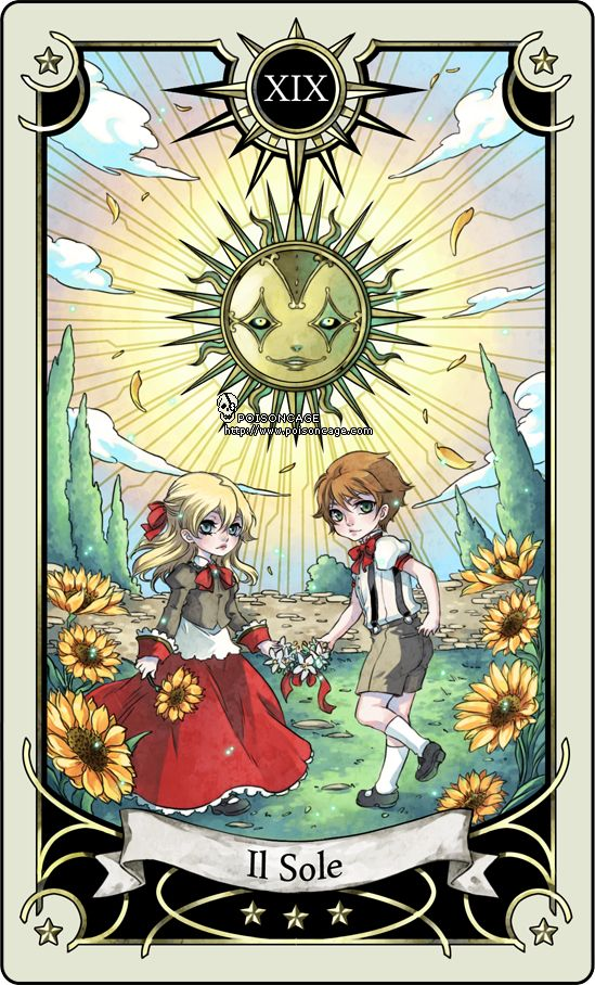 Tarot card 19- the sun by rann-poisoncage.deviantart.com on @deviantART