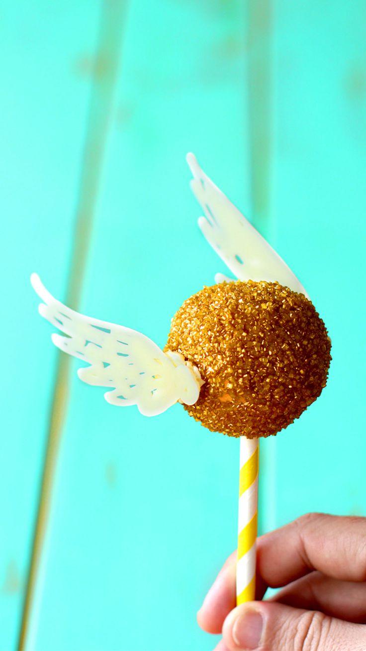 Golden Snitch Cake Pops   – Harry Potter Party
