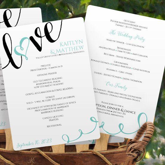 Best Wedding Program Templates Images On Pinterest Wedding - Wedding fan program template