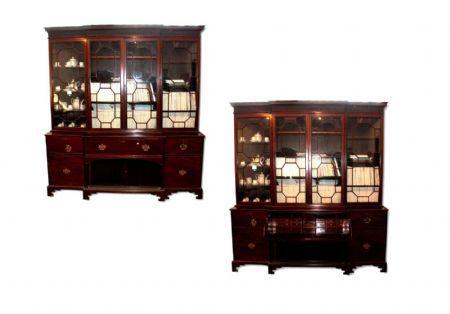 libreria 4 porte in mogano xix secolo vittoriana Antiquariato su Anticoantico