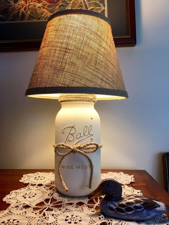 Mason Jar Lamp Table Lamp Country Rustic Lamp Farmhouse Style Lamp Farmers Style Decor Country Rustic Lamps Mason Jar Lamp Farmhouse Lamps