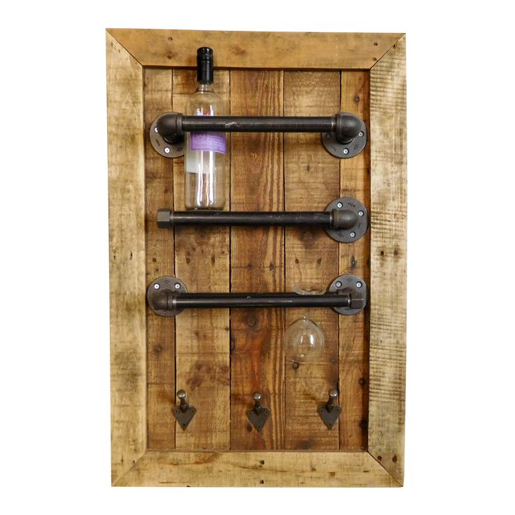Our own originally designed Industrial Wine Rack, specially hand made through 'upcycling' old materials. Able to store both bottles & wine glasses on this rack, it would add an old-time charm to any kitchen!