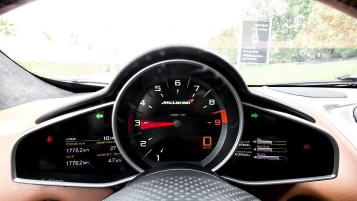 Mclaren Dashboard Instruments Supercar P O V