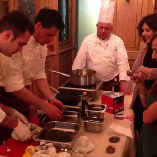 Pasquale Palamaro e Augusto Tombolato cooking class at The Westin Palace Milan