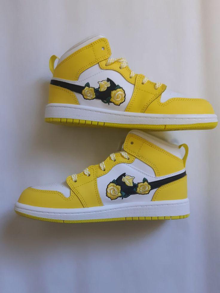 Jordan 1 Mid Dynamic Yellow Floral Flowe | Sneaker head, Jordan 1 ...