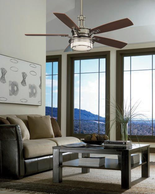 Indoor Ceiling Fan with Light   A fashionable design where contemporary  meets traditional smack dab in the middle makes this Fanimation Andover 54  in 72 best Ceiling fan images on Pinterest   Ceilings  Ceiling fans  . Living Room Ceiling Fans. Home Design Ideas