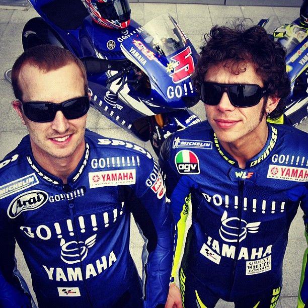 Valentino Rossi and Colin Edwards. 2005