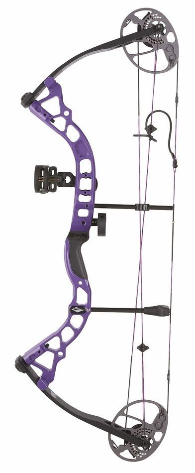 Compound 20838: 2017 Diamond Prism Compound Bow Package Purple Right Hand 5-55# BUY IT NOW ONLY: $295.0
