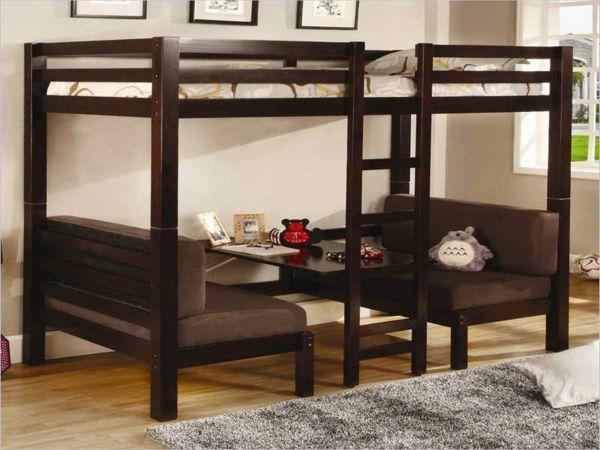 17 best ideas about lit mezzanine avec bureau on pinterest - Lit mezzanine noir avec bureau ...