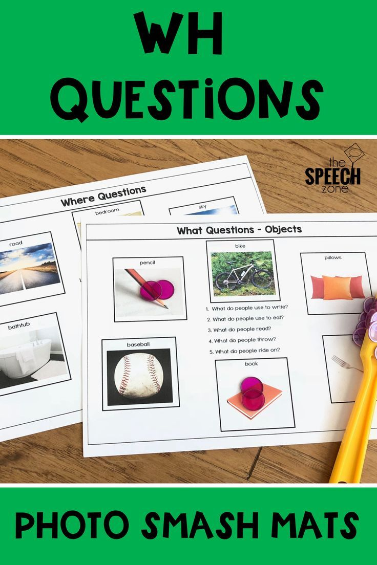 Wh Questions Photo Mats With Images Speech Therapy Activities Elementary School Speech Therapy Wh Questions