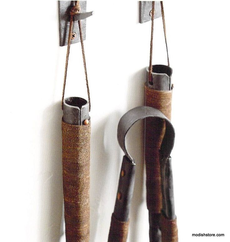 Roost Forged Iron Fireplace Tools, Set/3 w/3 Hooks – Modish Store - Images About Fireplace Accessories |Modish On Pinterest