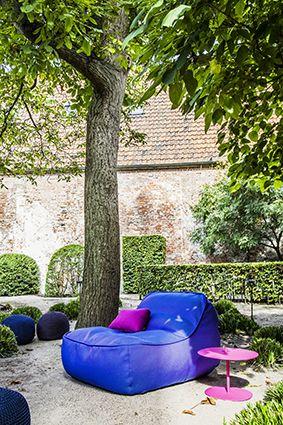 Paola Lenti I Outdoor I Easy Chair I Pouf