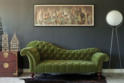 George Smith green sofa