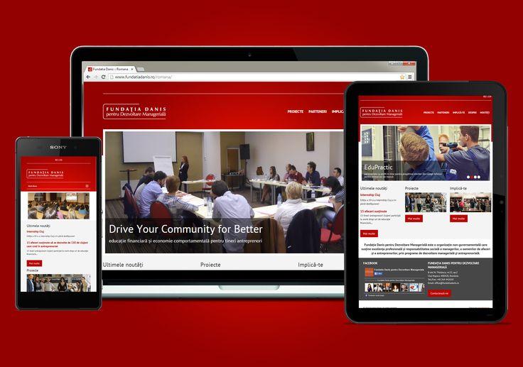 Responsive webdesign for Fundatia Danis