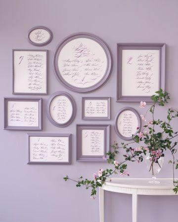 Framed seating arrangements to match the wall.
