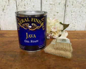 Java Gel - Quart, General Finishes Gel Stain, Antique Walnut Stain, Best Wood Stain
