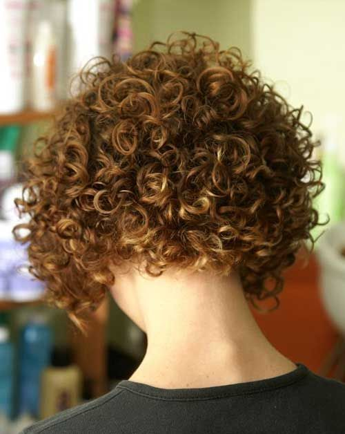 Image result for stacked spiral perm on short hair  Curly hair  Curly hair styles Short Curly