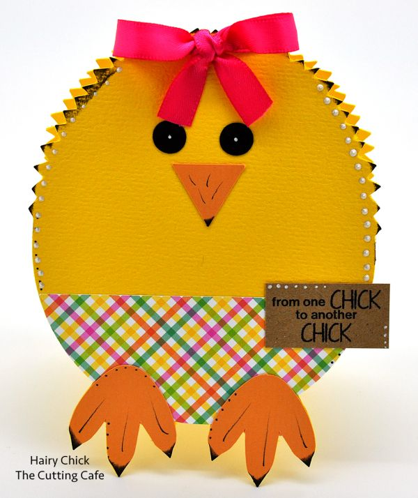 This HAIRY CHICK SHAPED CARD template and cutting file is perfect for Easter and Spring. The set comes with the following: 1 chick shaped card (comes in the following formats: PDF, SVG, MTC and WPC) 2 lower body layers 3...