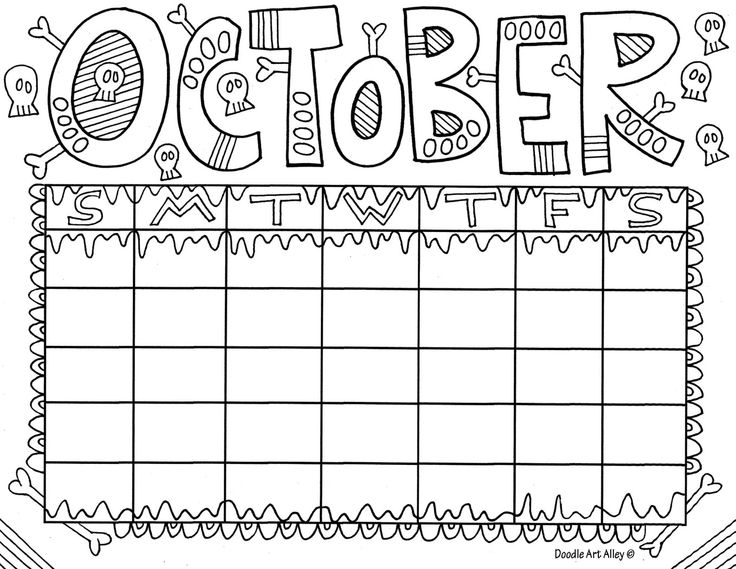 page a day calendar coloring pages - photo #3