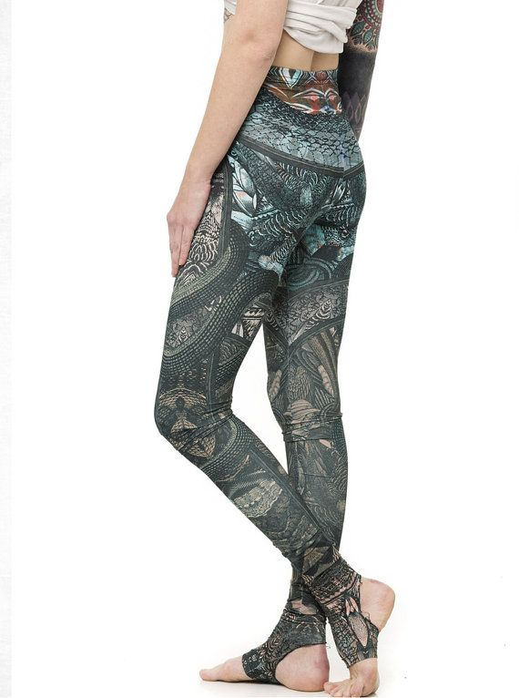 Colorful Stirrup Leggings as Pants  High Quality Printed