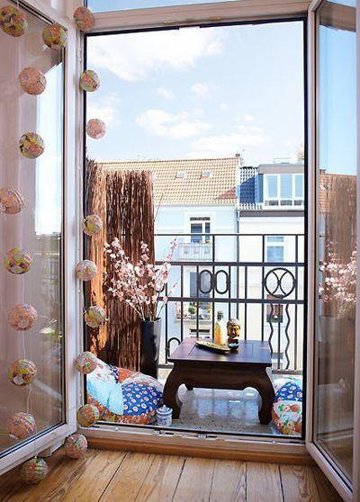 piccoli spazi organizzare il balcone