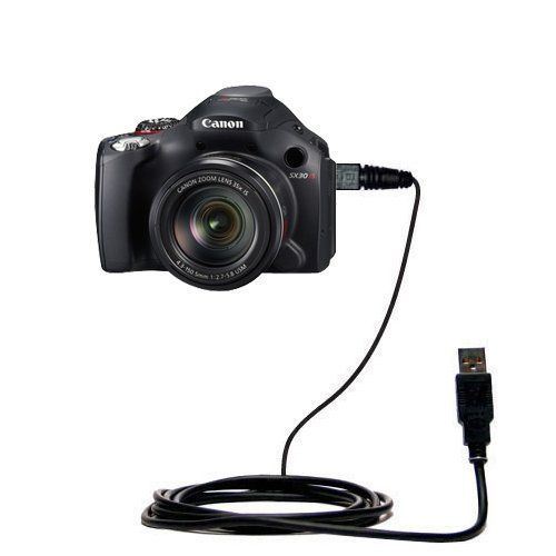 Classic Straight USB Cable for the Canon Powershot SX30 IS - Uses Gomadic TipExchange Technology