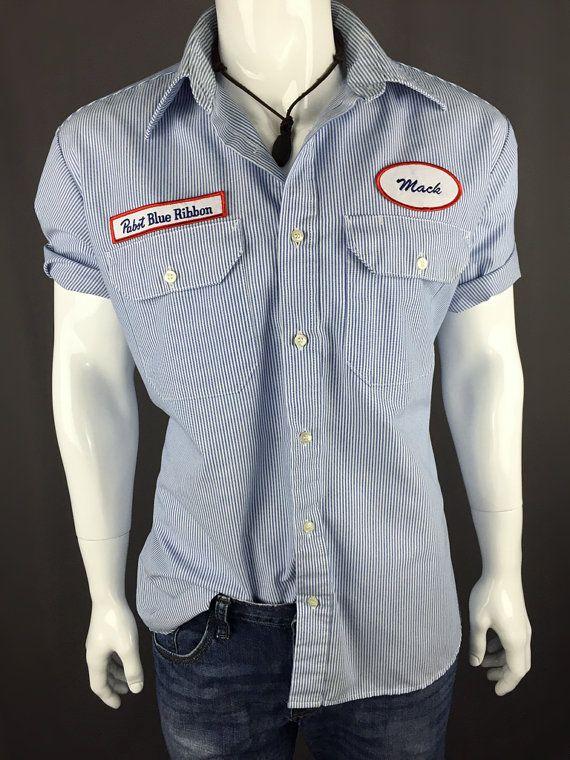 90's Pabst Blue Ribbon Short Sleeve Work by DynamiteDudsVintage