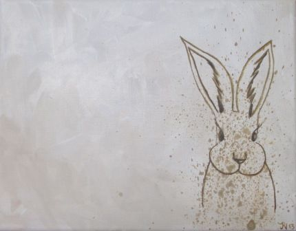 Easter Bunny Painting By JRN