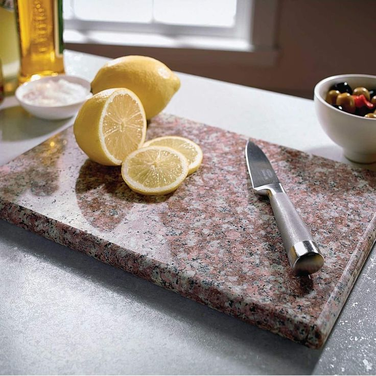 "Sweet Home Collection Granite Cutting Board (8""x12"") Brown (Stone)"