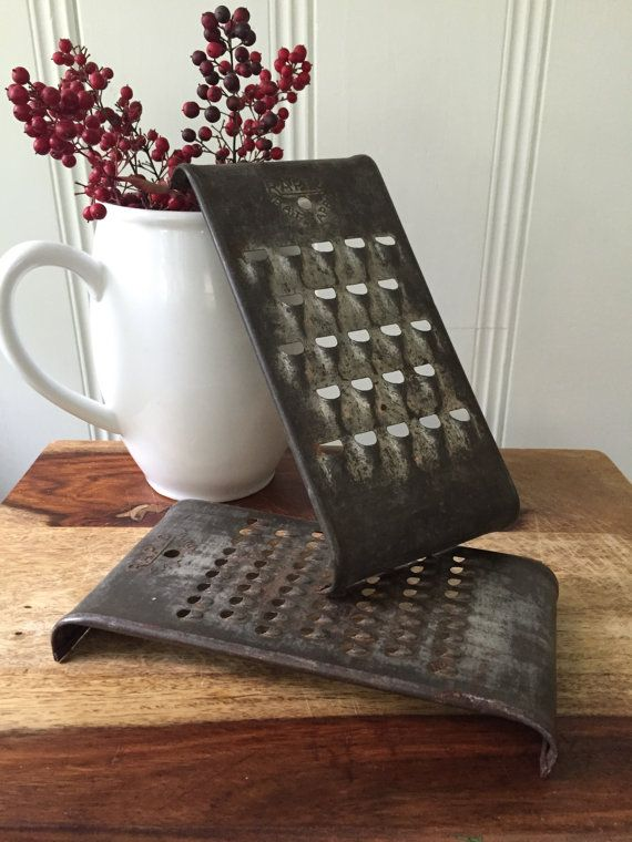 RAPID Vintage Rustic Cheese Graters by CongenialVintage on ...