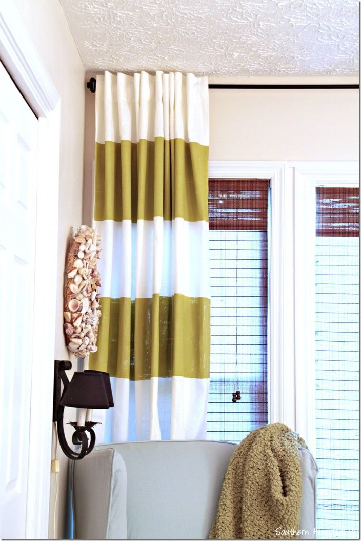 how to paint strips on curtains