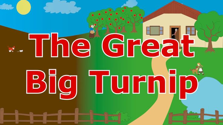 The Great Big Turnip - Animated fairy tale for toddlers and children - bedtime stories for kids